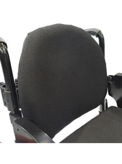 Cadeira de Rodas Monobloco M3 40cm Azul Glacial com Pneus Laranja Ortobras