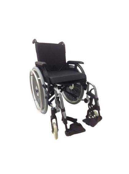 Cadeira de Rodas K3 Alumínio Pés Removíveis 44cm Grafite Ortobras