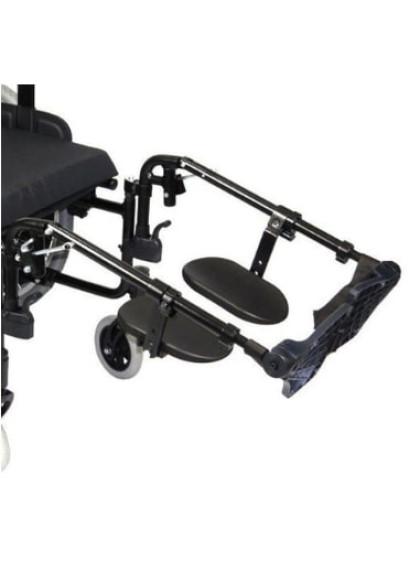 Cadeira de Rodas K2 Alumínio Pés Eleváveis 44cm Branco Ortobras