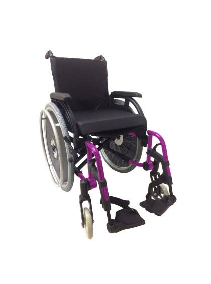 Cadeira de Rodas K3 Alumínio Pés Removíveis 42cm Rosa Ortobras