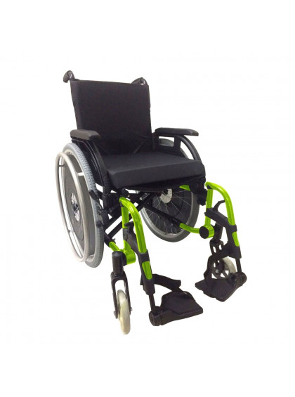 Cadeira de Rodas K3 Alumínio Pés Removíveis 38cm Verde Oliva Ortobras