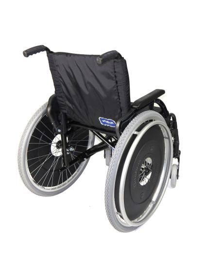 Cadeira de Rodas K3 Alumínio Pés Removíveis 40cm Verde Oliva Ortobras
