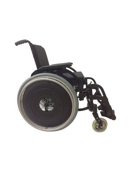 Cadeira de Rodas K3 Alumínio Pés Removíveis 44cm Azul Glacial Ortobras