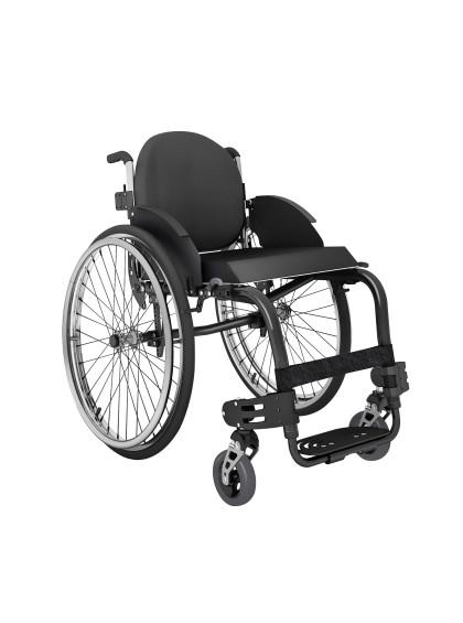 Cadeira de Rodas Monobloco M3 44cm Preto com Pneus Cinza Ortobras