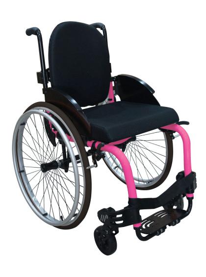 Cadeira de Rodas Monobloco M3 40cm Rosa Pink com Pneus Cinza Ortobras