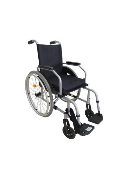Cadeira de Rodas Alumínio Start C1 Pés Rebatíveis Prata Ottobock 45,5CM