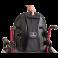 Cadeira de Rodas Monobloco M3 46cm Vermelho Perolizado com Pneus Cinza Ortobras