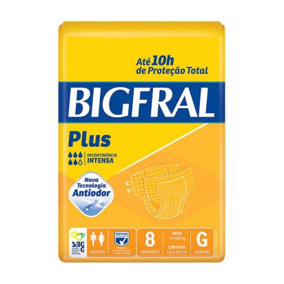 Fralda Descartável Adulto Big Fral G com 8 Und - G