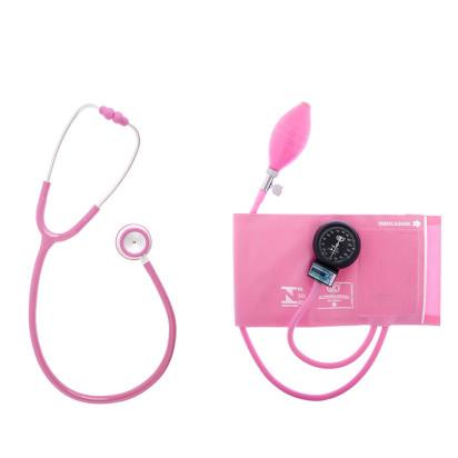 Aparelho de Pressão Bic Adulto Velcro com Estetoscópio Duo + Bolsa Rosa