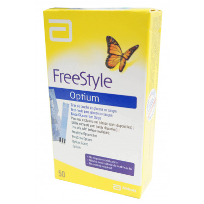 FreeStyle Optium Tiras para Teste de Glicemia com 50 unidades Abbott
