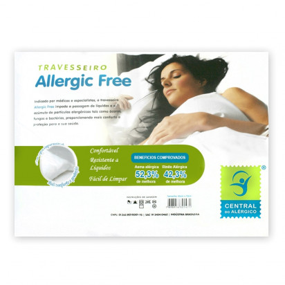 Travesseiro Anti Alérgico Fibra Poliéster com Forro Algodão