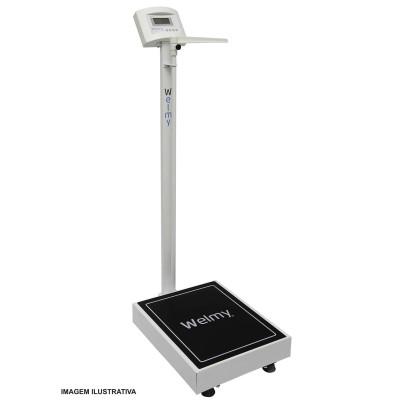Balança Welmy Antropométrica Digital 300 kg com Régua W-300A LED
