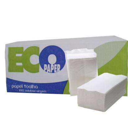 Papel Toalha Ecopaper 20x22 cm Branco Extra Luxo com 1000 folhas