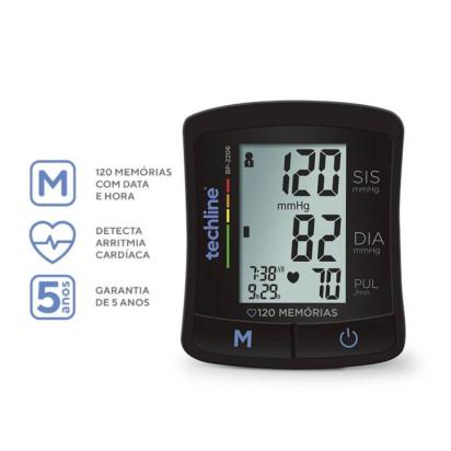 Aparelho de Pressão Automático de Pulso BP-2206 Techline