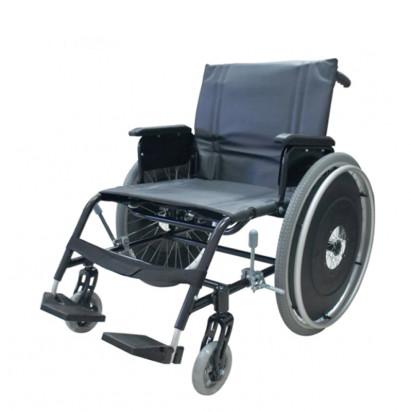 Cadeira de Rodas Gazela Ultra Lite Preta Ortobras