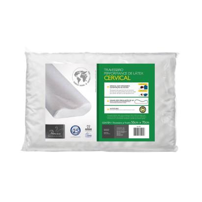 Travesseiro Cervical Látex Lavável Ref. WC2045 Fibrasca