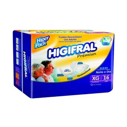 Fralda Descartável Higifral Premium com 16 XG Eurofra