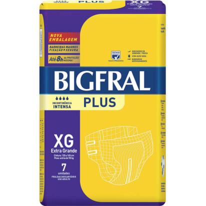 Fralda Descartável Adulto XG com 7 Und Bigfral