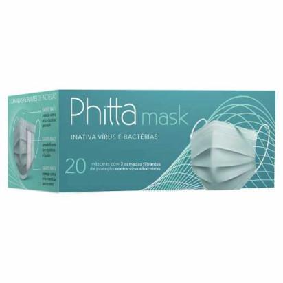 Máscara Com Efeito Virucida C/ 20 Unidades Phitta - Casa Médica