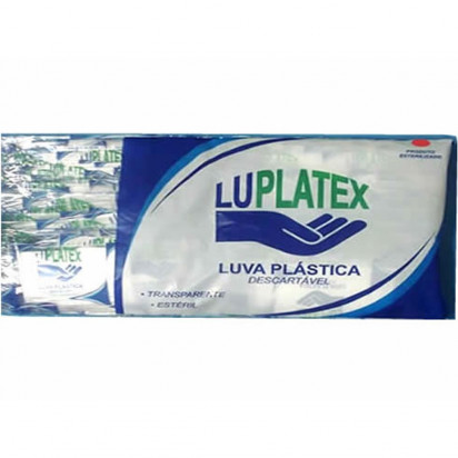 Luva Plástica Estéril PCT 100 Luplatex - Casa Médica