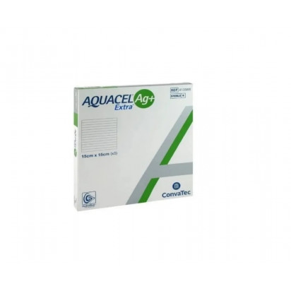 Aquacel Ag+ Extra Curativo Antimicrobiano Hydrofiber Prata Convatec