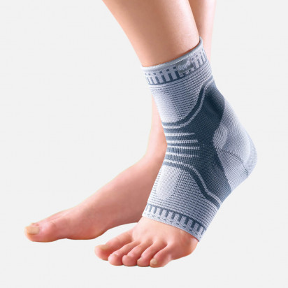 Tornozeleira Elastica Ankle Support na cor cinza da marca Chantal
