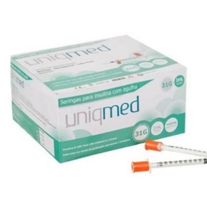 Seringa Descartavel para Insulina U-100 1ML 31G 6x0,25  UNIDADE