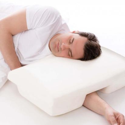 Travesseiro Contra Ronco Perfetto 64x44x14cm com encaixe para braço Perfil Baixo