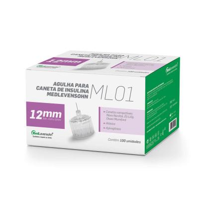 Agulha Descartável para Caneta Diabético Medlevensohn ML01 Unidade 6mm