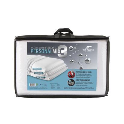 Travesseiro Regulável Personal Mix 3 Anti Bactéria Fibrasca