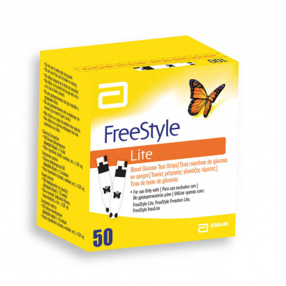 Freestyle Lite 50 Tiras Abbott
