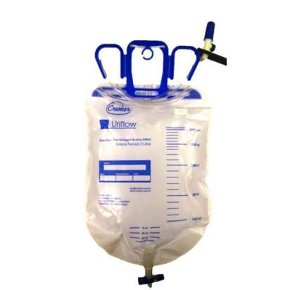 Coletor de Urina Sistema Fechado com Válvula 2000ml Uriflow Cremer