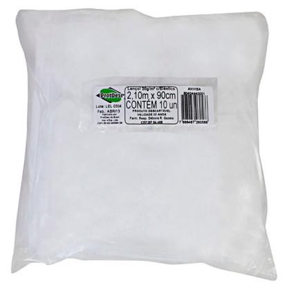 Lençol Descartável Com Elástico 2,10 X 90Cm - Gr 20 - Protdesc