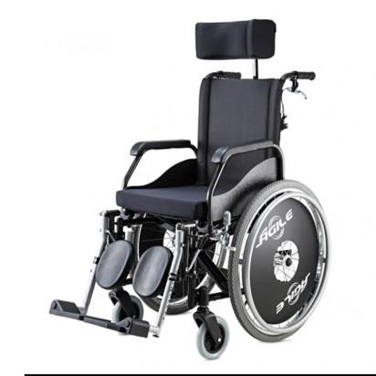 Cadeira de Rodas Agile Alumínio Reclinável com Pés Eleváveis Jaguaribe