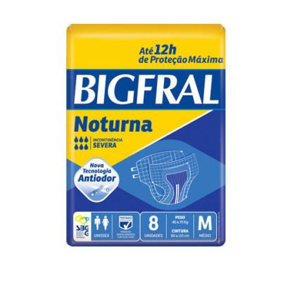 Fralda Descartável BigFral Noturna M com 08 Unidades