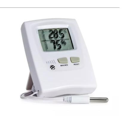 Termo-Higrômetro Digital Max/Min com Cabo 3mts Temperatura Interna/Exterma Incoterm
