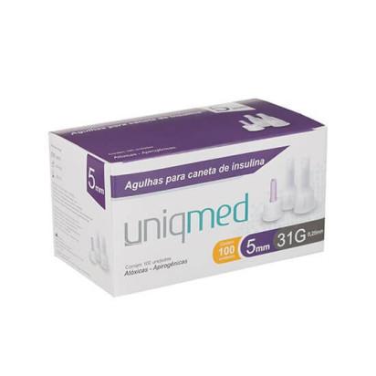 Agulha Descartável para Caneta Insulina 31g 5x0,25mm Uniqmed