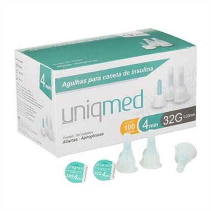 Agulha Descartável para Caneta Insulina 32G 4x0,23mm Unidade Uniqmed