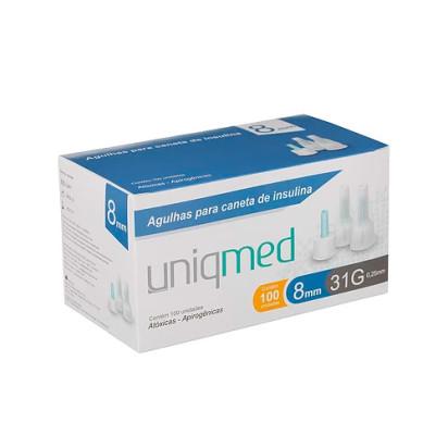 Agulha Descartável para Caneta Insulina 31g 8x0,25mm Uniqmed