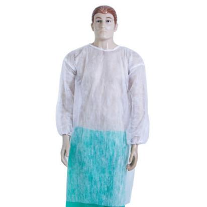 Avental Procedimento Manga Longa Punho Elástico Soft Branco com 10 Anadona