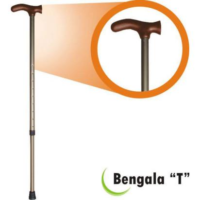Bengala Alumínio T com Regulagem Bronze/Bronze Fina BTRBB Alo