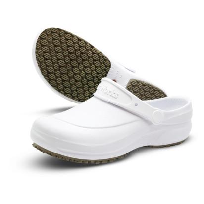 Crocs em E.V.A Antiderrapante Branco Soft Works