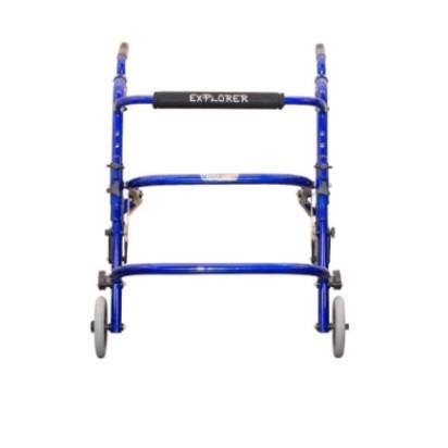 Andador Explorer Standard Grande Cor Azul Completo Vanzetti