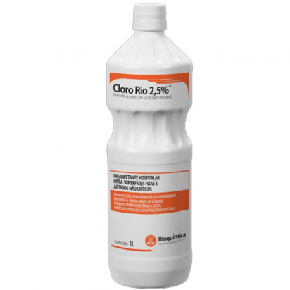 Hipoclorito de Sódio Cloro-Rio 2.5% 1000ml
