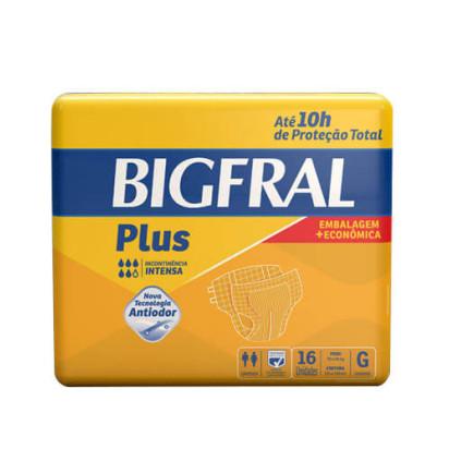 Fralda Descartável Bigfral Plus G com 16 Und