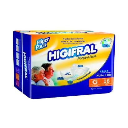 Fralda Descartável Higifral Premium G com 18 Eurofral
