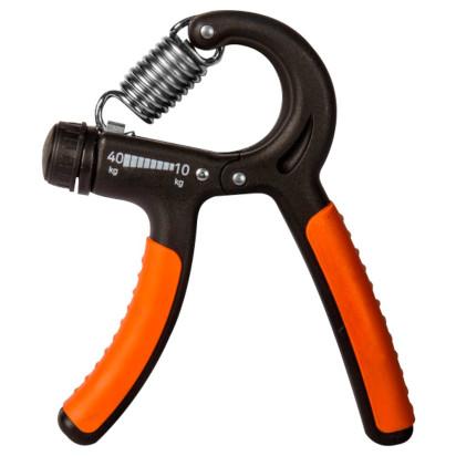 Hand Grip Ajustável 10 a 40kg na cor preta e boracha laranja da marca ACTE