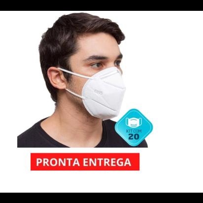 Máscara KN95 c/ Elástico e Clip Nasal