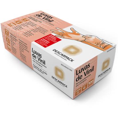 Luva Procedimento Vinil C/ 100uni S/ Pó Descarpack