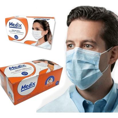 Mascara Descartavel Tripla C/Elastico Medix 50unidades